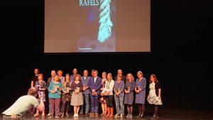 Foto bij prijzen - De schrijvers van Rafels