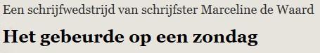Schrijfwedstrijd in Schiedammer